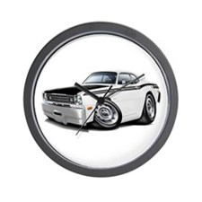 Duster 340 White Car Wall Clock
