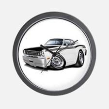 Duster 340 White Car Wall Clock