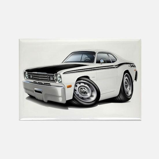 Duster 340 White Car Rectangle Magnet