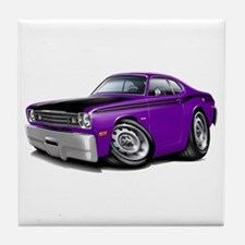 Duster 340 Purple Car Tile Coaster