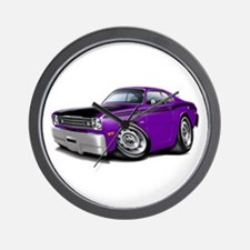 Duster 340 Purple Car Wall Clock