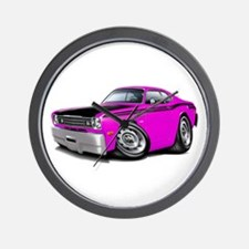 Duster 340 Pink Car Wall Clock