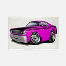 Duster 340 Pink Car Rectangle Magnet