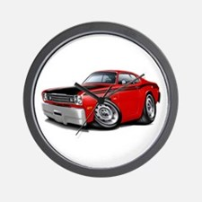 Duster 340 Red Car Wall Clock