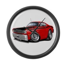 Duster 340 Red Car Large Wall Clock