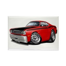 Duster 340 Red Car Rectangle Magnet