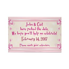 Personalized Save Date Rectangle Magnet