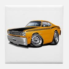 Duster 340 Orange Car Tile Coaster