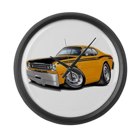 Duster 340 Orange Car Large Wall Clock