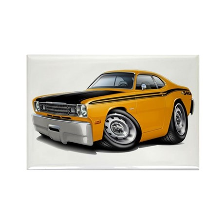 Duster 340 Orange Car Rectangle Magnet