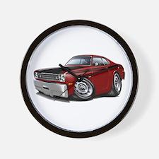 Duster 340 Maroon Car Wall Clock