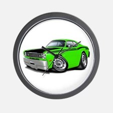 Duster 340 Lime Car Wall Clock