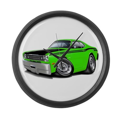 Duster 340 Lime Car Large Wall Clock