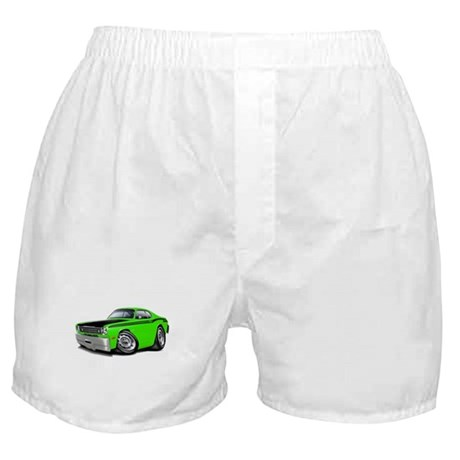 Duster 340 Lime Car Boxer Shorts
