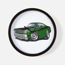 Duster 340 Green Car Wall Clock