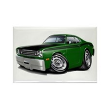 Duster 340 Green Car Rectangle Magnet