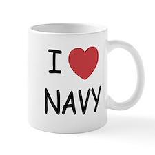 I heart Navy Mug