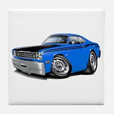 Duster 340 Blue Car Tile Coaster