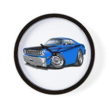 Duster 340 Blue Car Wall Clock