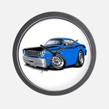 Duster 340 Blue Car Wall Clock