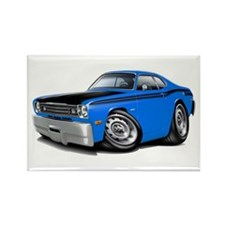 Duster 340 Blue Car Rectangle Magnet