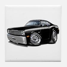 Duster 340 Black Car Tile Coaster