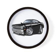 Duster 340 Black Car Wall Clock