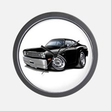 Duster 340 Black Car Wall Clock