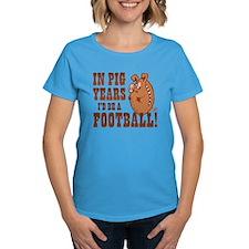 Pig Years Football Tee