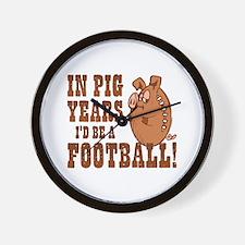 Pig Years Football Wall Clock