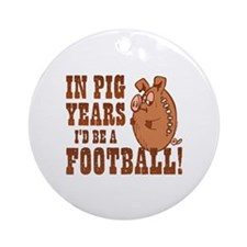 Pig Years Football Ornament (Round)