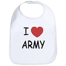 I heart Army Bib
