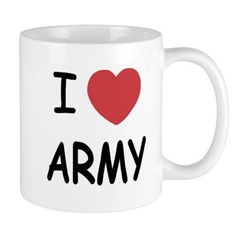 I heart Army Mug
