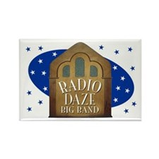 Radio Daze bandstand Rectangle Magnet