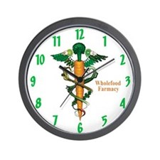 Wholefood Farmacy Wall Clock