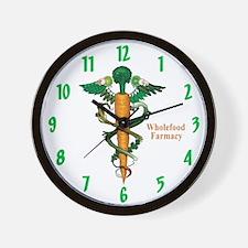 Wholefood Farmacy Wall Clock