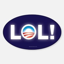 LOL Obama Sticker (Oval)
