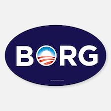 Obama Borg Sticker (Oval)