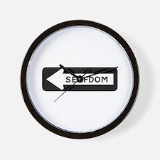 Road to Serfdom: One Way Wall Clock