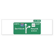 Road to Serfdom: Junction Car Sticker
