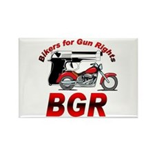 Bikers and Guns Rectangle Magnet