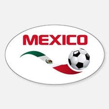 Soccer MEXICO Sticker (Oval)