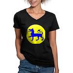 East Kingdom Populace Women's V-Neck Dark T-Shirt