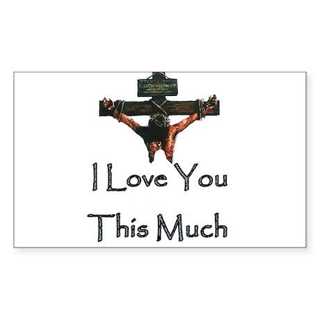 Jesus Loves You Sticker (Rectangle)