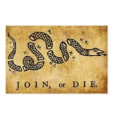 Join Or Die Postcards (Package of 8)