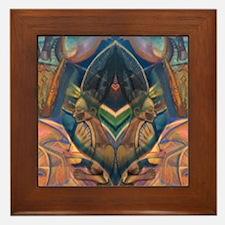 African Heart Framed Tile