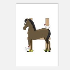 Animal Alphabet Horse Postcards (Package of 8)