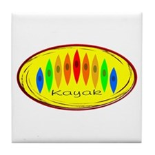 Kayak Rainbow (Yellow) Tile Coaster