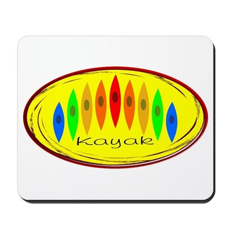 Kayak Rainbow (Yellow) Mousepad