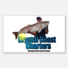 Crystal Coast Charters Rectangle Decal
